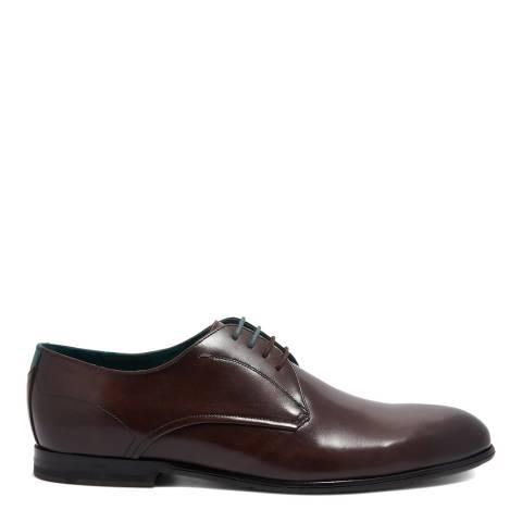 Ted Baker Brown Fonntan Leather Derby Shoe