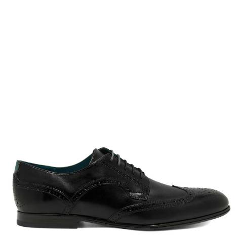 Ted Baker Black Larriy Wing Cap Leather Brogue Shoe