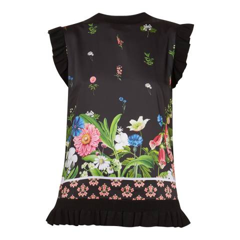 Ted Baker Black/Multi Florence Sleeveless Top