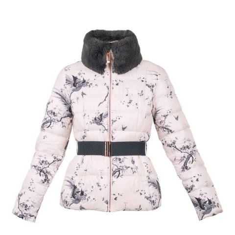 Ted Baker Pink Orient Printed Down Jacket