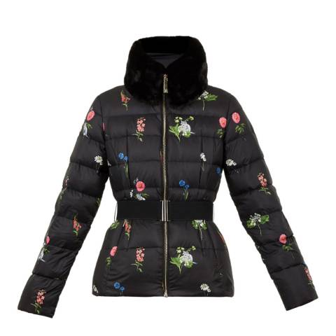 Ted Baker Navy Florence Printed Down Jacket