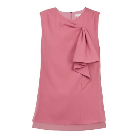 Ted Baker Pink Sculpted Bow Sleeveless Top