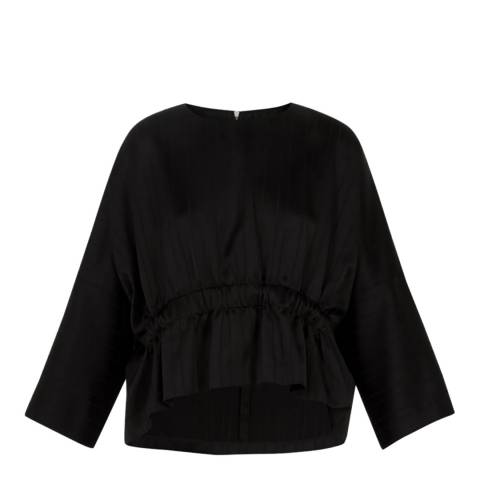 Ted Baker Black Cropped Peplum Top