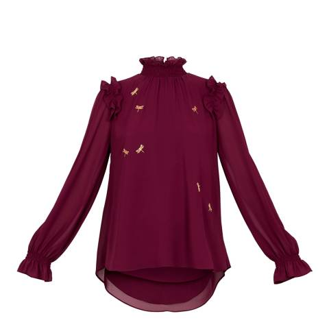 Ted Baker Purple Sugar Plum Embellished Top