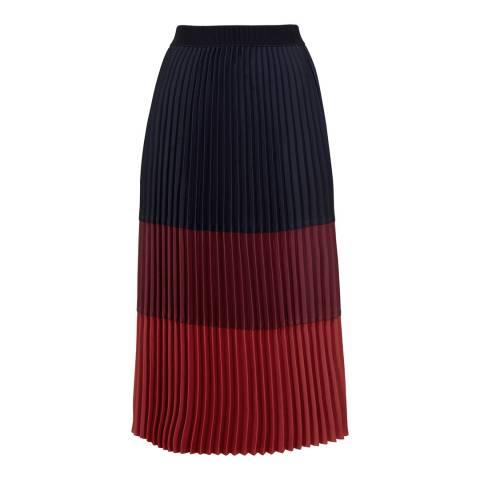 Ted Baker Multi Colour Block Midi Skirt