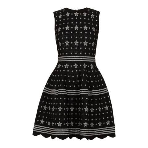 Ted Baker Black/Print Star Jacquard Lurex Knit Dress