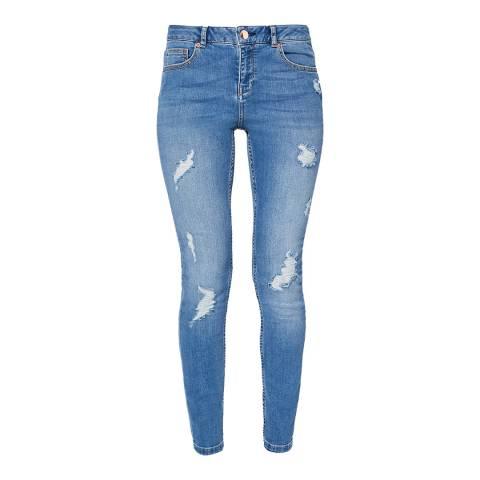 Ted Baker Blue Abrasion Detail Jean