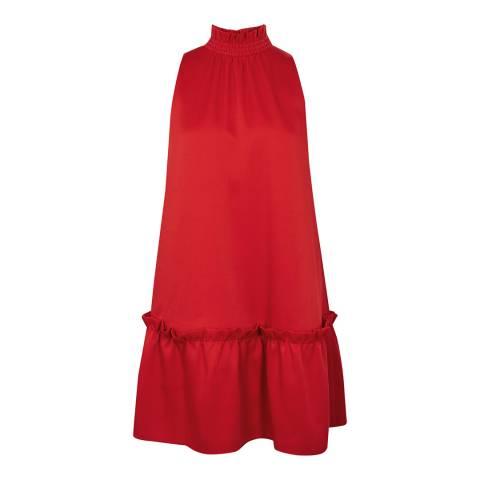 Ted Baker Red A-Line High Neck Shift Dress