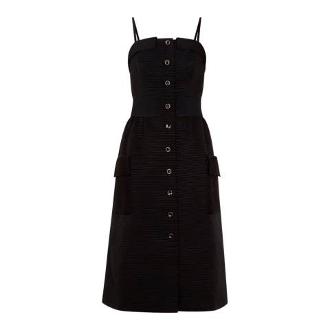 Ted Baker Black Cotton Button Dress