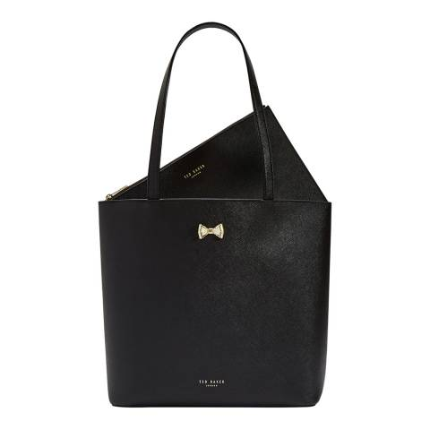 Ted Baker Black Kassidi Bow Detail Shopper