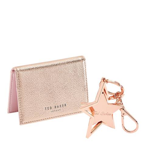 Ted Baker Rose Gold Fionola Card Holder and Star Keyring set