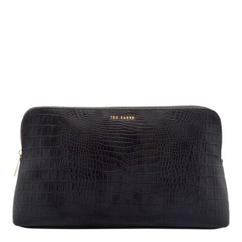 Ted Baker Black Tawny Croc Effect Wash Bag