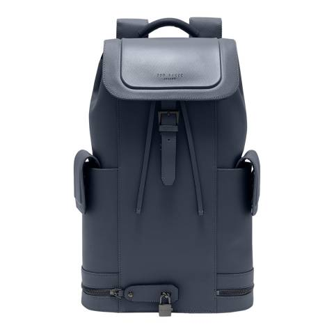 Ted Baker Grey Captain Leather Backpack