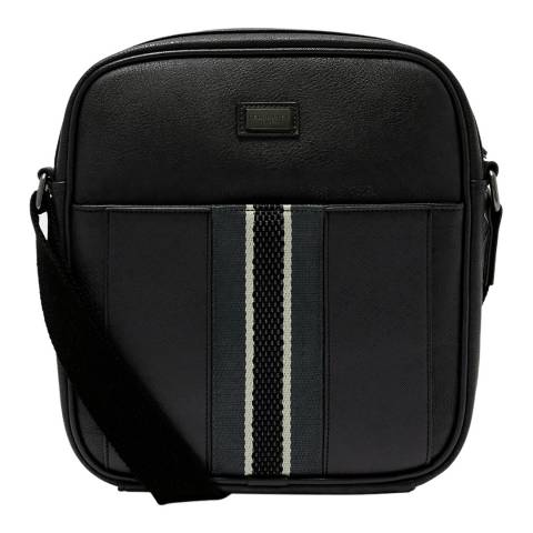 Ted Baker Black Lacross Webbing Detail Flight Bag