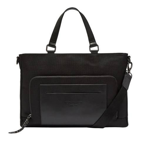 Ted Baker Black Quays Nylon Document Bag