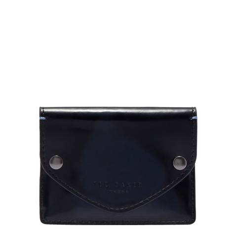 Ted Baker Navy Batter Burnished Leather Cardholder
