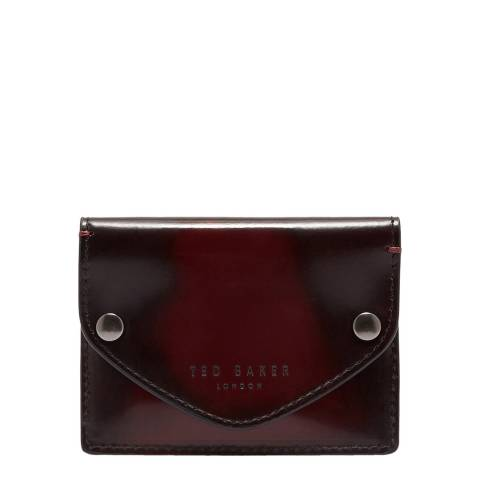 Ted Baker Oxblood Batter Burnished Leather Cardholder