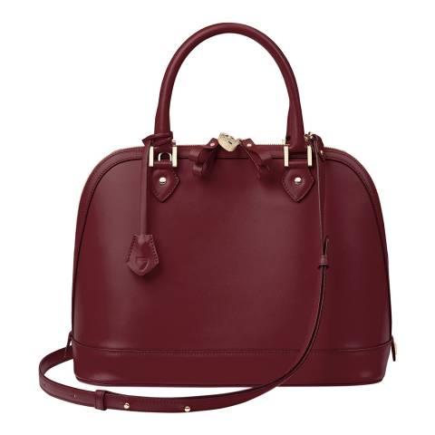 Aspinal of London Bordeaux Smooth Hepburn Bag