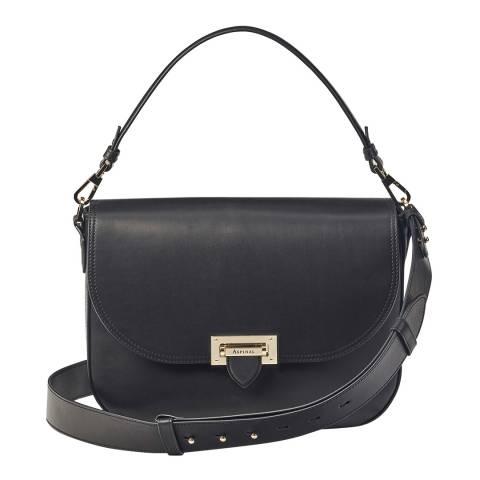Aspinal of London Black Michigan Slouch Saddle Bag