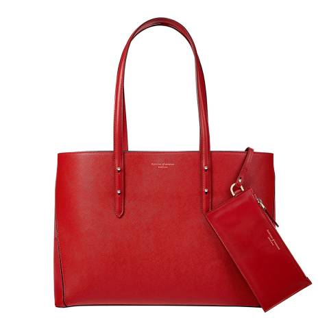 Aspinal of London Scarlet Regent A Tote