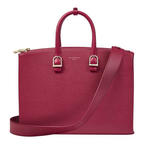 Aspinal of London Cranberry Madison Tote