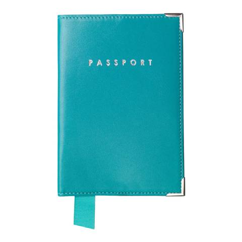 Aspinal of London Turquoise Plain Passport Cover