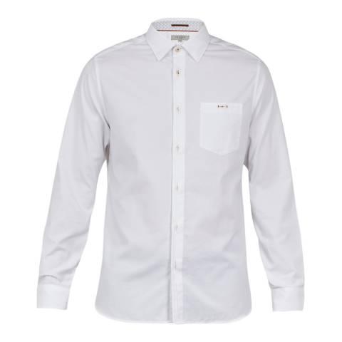 Ted Baker White Long Sleeved Cotton Shirt