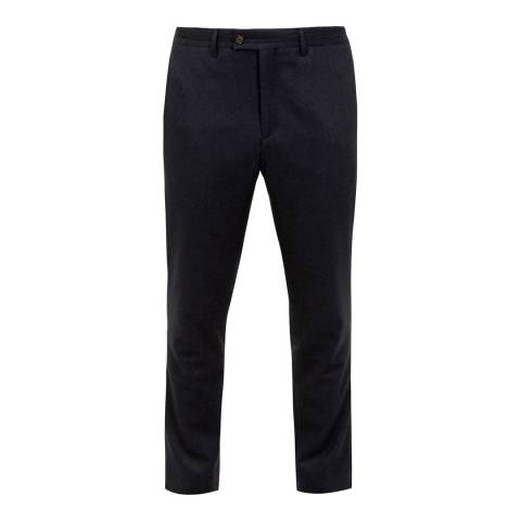 Ted Baker Black Core Wool Blend Trousers