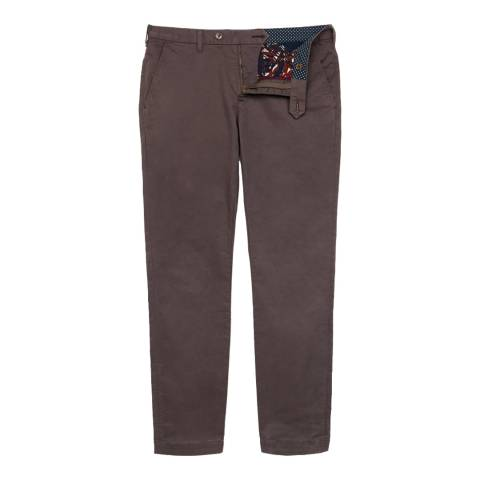 Ted Baker Brown Slim Fit Cotton Blend Chinos