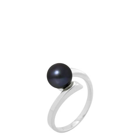 Atelier Pearls Black Tahiti Pearl Ring 7-8mm
