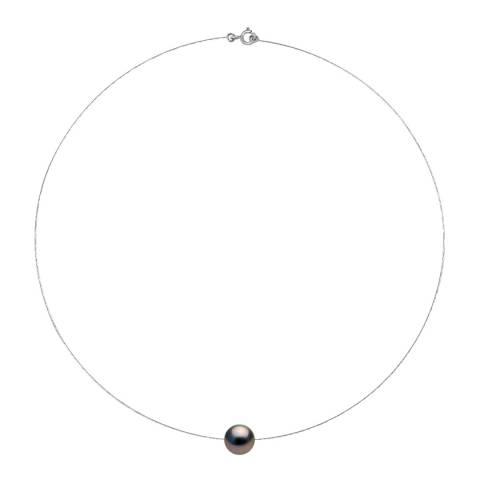 Ateliers Saint Germain Black Tahiti Pearl Round White Gold Necklace 10-11mm