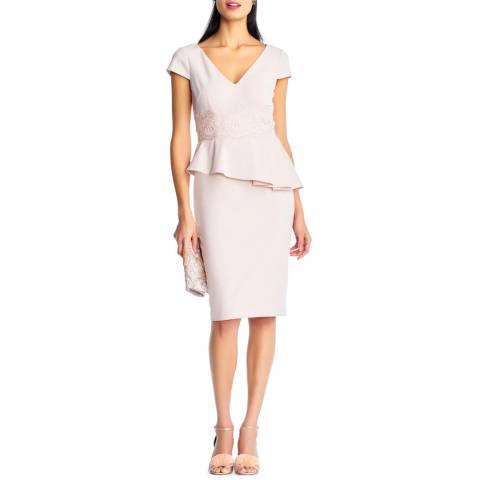 Adrianna Papell Blush Knit Crepe Dress