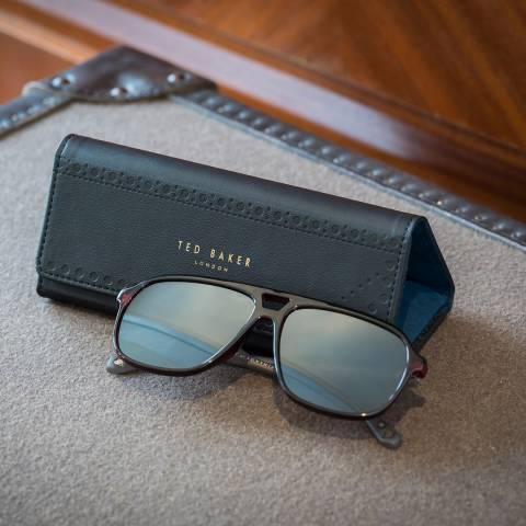 Ted Baker Black Brogue Monkian Sunglasses Case