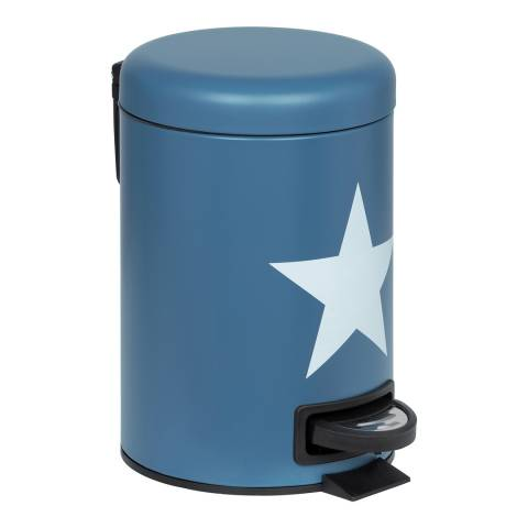 Wenko Stella 3 Litre Bin, Dark Blue