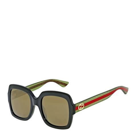 Gucci Women's Black/Green Gucci Sunglasses 54mm