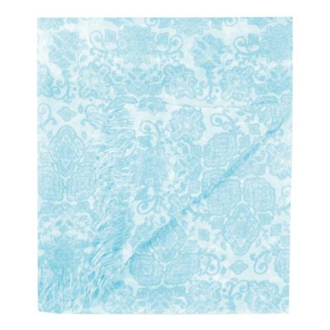 Pure Collection White Paisley Print Ultra Soft Printed Scarf