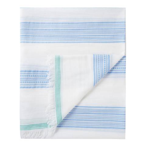 Pure Collection Multi Stripe Textured Stripe Scarf