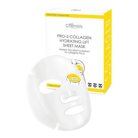 Skinchemists Pro- 5 Collagen Hydrating Lift Sheet Mask