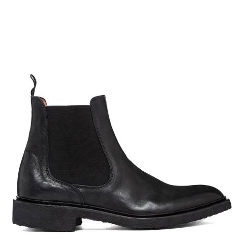 Oliver Sweeney Black Trancoso Distressed Chelsea Boot