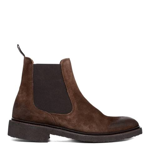 Oliver Sweeney Dark Brown Trancoso Distressed Chelsea Boot