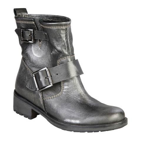 Ana Lublin Grey Carin Biker Ankle Boot
