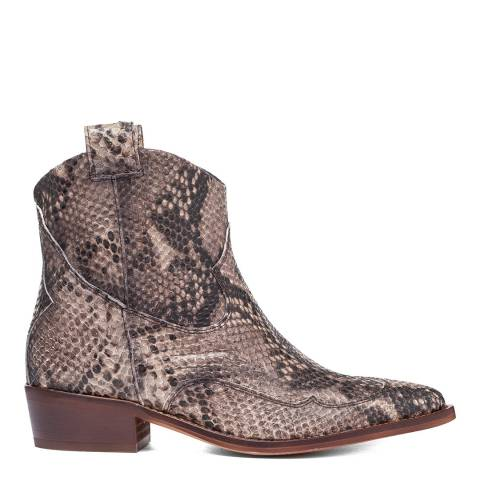 Oliver Sweeney Snake Leather Capanario Western Ankle Boots