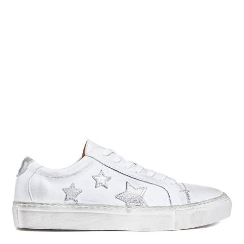 Oliver Sweeney White Silver Guarda Distressed Star Sneakers
