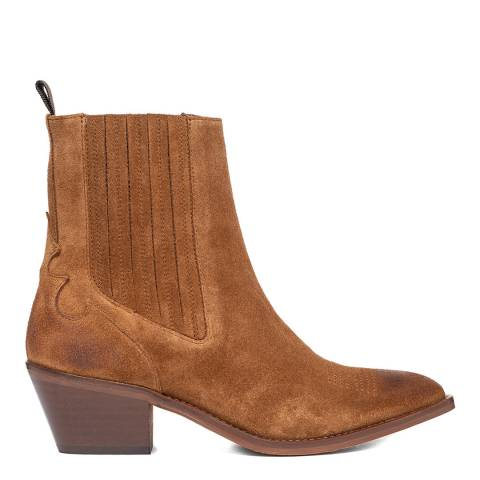 Oliver Sweeney Tan Suede Santana Western Boots
