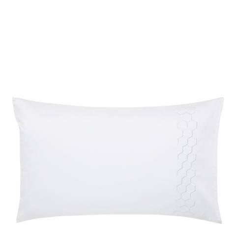 Peacock Blue Regina 600TC Housewife Pillowcase, White