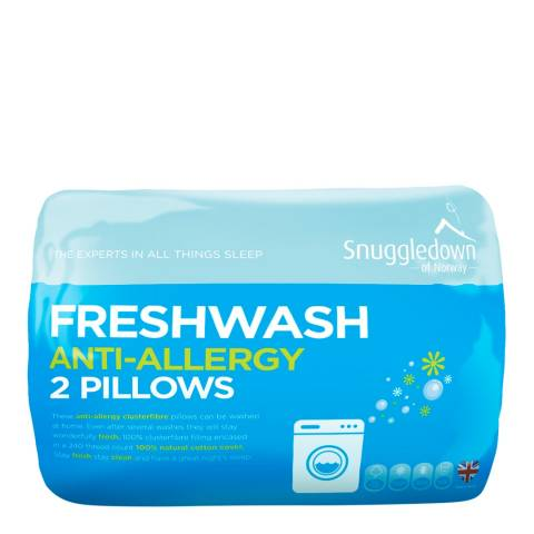 Snuggledown Fresh Wash Anti Allergy Pair of Pillows