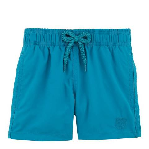 Vilebrequin Older Boy's Blue Water Reactive Swim Shorts