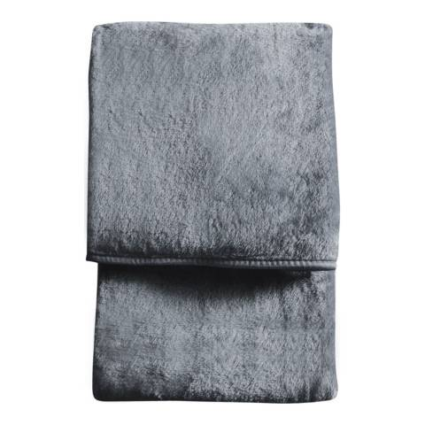 Gallery Charcoal Maximus Fleece Throw 150x210cm