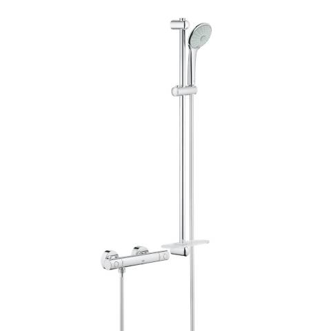 GROHE Grohtherm 1000 Cosmopolitan M Thermostat Shower Set, 900mm