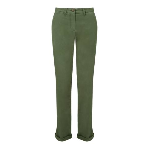 Jigsaw Khaki Cotton Slim Stretch Chinos